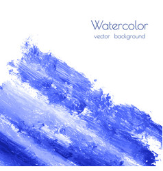 turquoise navy blue watercolor texture vector image