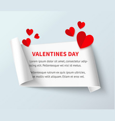 valentines day banner template vector image