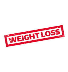 weight loss rubber stamp vector image