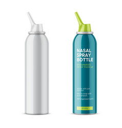 white glossy nasal spray bottle vector image