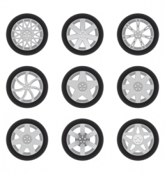 car discs vector image vector image
