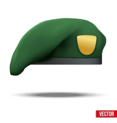 Military green beret army special forces vector