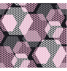 Pastel rosy color modern geometry hexagon tulle vector