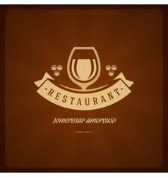 Restaurant Shop Design Element in Vintage Style vector image