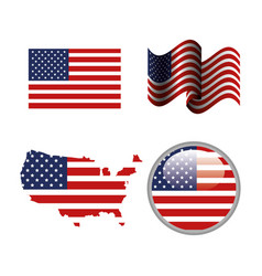 usa related design vector image