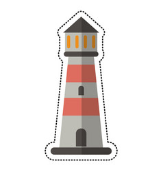 cartoon lighthouse guide sea vector image