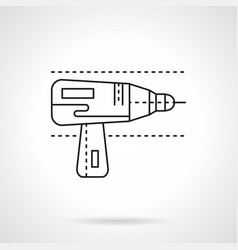 drill for metal flat line icon vector image