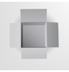 Open box Top view vector image