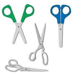 Scissors set vector image vector image