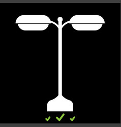 street light or lamp it is white icon vector image vector image