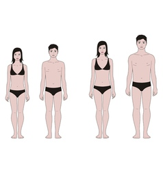 Teenager figure vector image