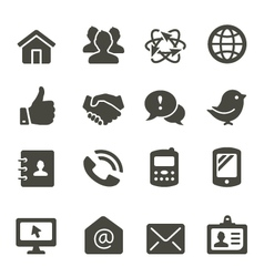 Communication icon set 2 vector