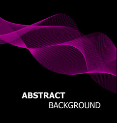 abstract pink line wave background vector image vector image