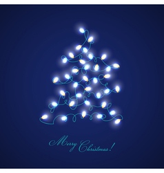 Christmas Tree Lights - for design and scrapbook vector image vector image