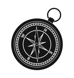 Compass icon in black style isolated on white vector image vector image