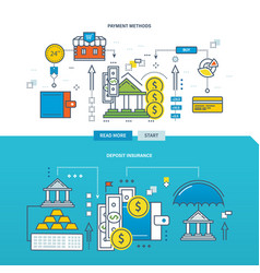 concept of payment methods and deposit insurance vector image