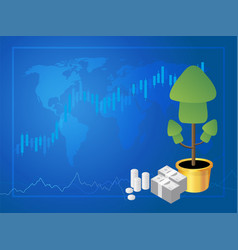 forex marke trading vector image