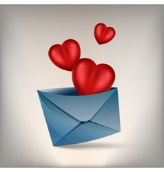 hearts and develop vector image