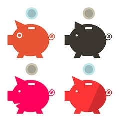 Money Pig Banks Set vector image vector image