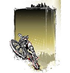 mountain bike poster vector image