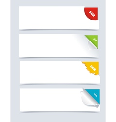 Papers with different corners vector image