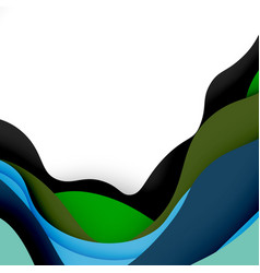 3d abstract background with cut shapes vector image