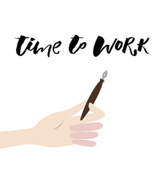 A positive word calls for action time to work vector