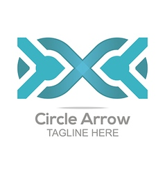 Abstract Logo Letter Circle Arrow Design Icon vector