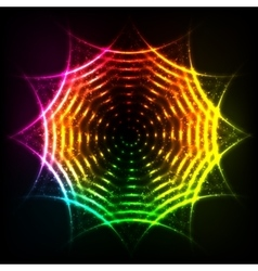 Abstract rainbow neon spirals cosmic circle vector