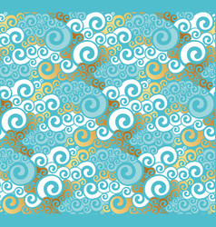 abstract sea water seamless pattern vector image