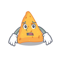 Afraid nachos mascot cartoon style vector