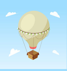 air balloon isometric vector image
