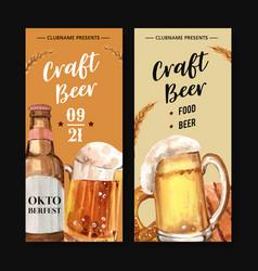 Beer in glass flyer for oktoberfest in munich vector