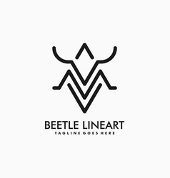 Beetle template vector
