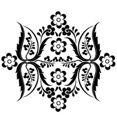 Black oriental ottoman design fifteen vector
