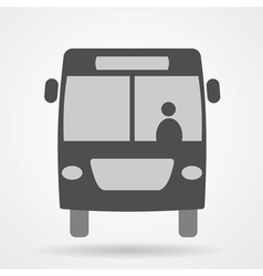 bus web icon vector image