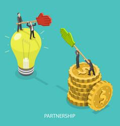 business partnership flat isometric vector image
