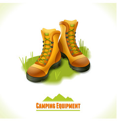 Camping symbol boots vector image