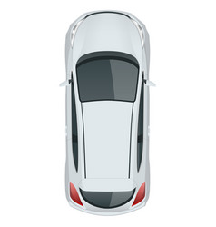 Car template on white background compact vector