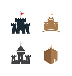 castle logo design template vector image