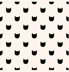 Cat faces seamless pattern black and beige vector