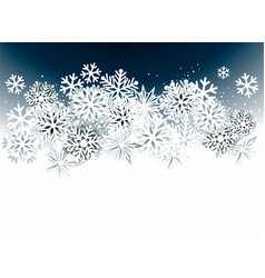 christmas abstract background with snowflakes vector image