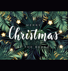 Christmas tropical design for banner vector