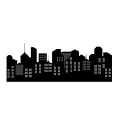 city silhouette skyline with building cityscape vector image