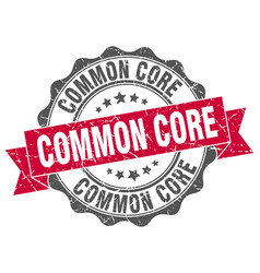 common core stamp sign seal vector image