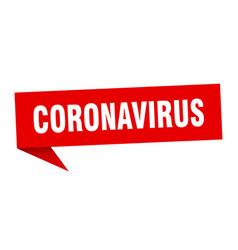 coronavirus speech bubble coronavirus ribbon sign vector image