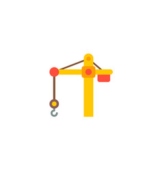 crane tower icon flat element vector image