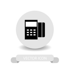Credit card machine icon vector
