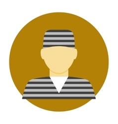 Criminal avatar flat icon vector