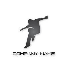 dancer logo vector image